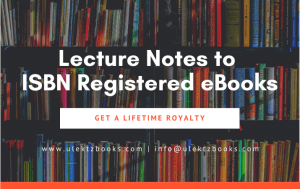 Lecture Notes to ISBN Registered eBooks