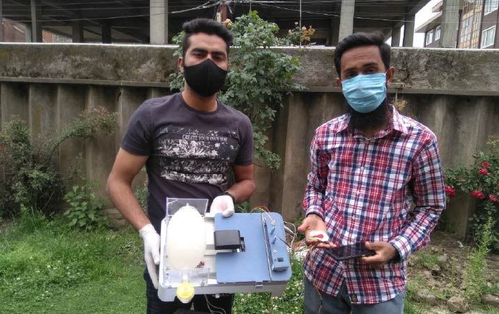 Two BTech students of Kashmir create low cost ventilator using scrap items to fight Covid 19