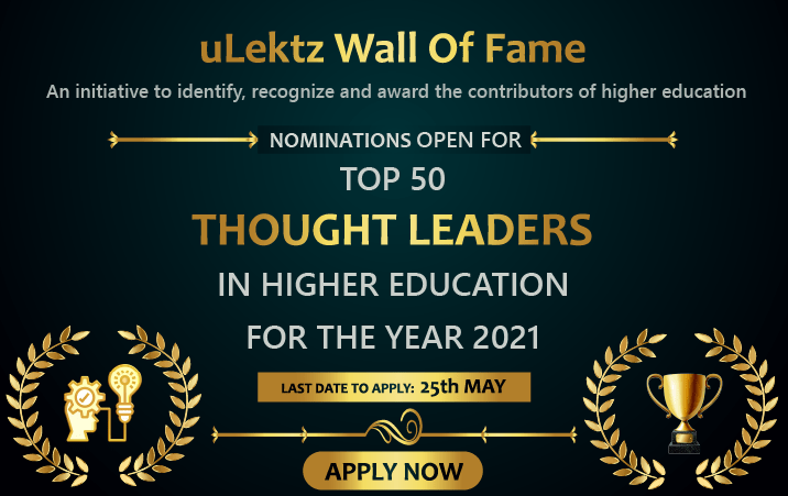 uLektz Wall of Fame Top 50 Thought Leaders in Higher Education