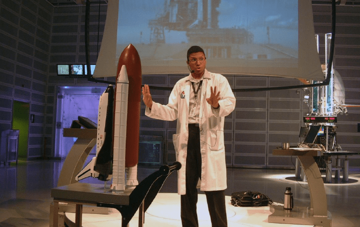 Youths interested in science or space