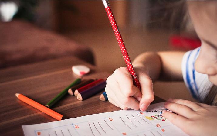 student crayon